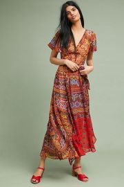 Murol Wrapped Maxi Dress by Akemi  Kin at Anthropologie