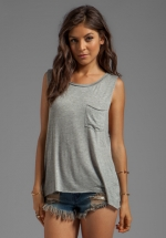 Muscle tank in grey by Daydreamer at Revolve
