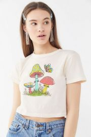 Mushroom Butterfly Baby Tee by Future State at Urban Outfitters