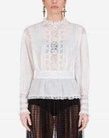 Muslin and lace blouse at Dolce and Gabbana