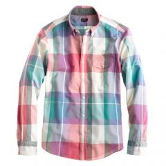 Muslin plaid shirt at J. Crew