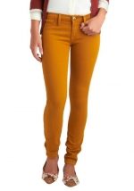 Mustard jeans at Modcloth