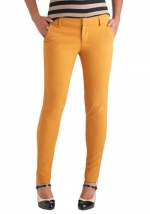 Mustard yellow pants from Modcloth at Modcloth