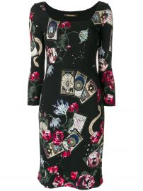 Mystic Garden Print Dress by Roberto Cavalli at Farfetch