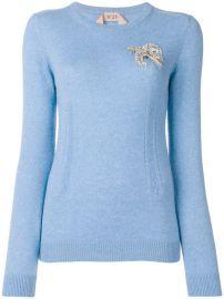 N  186 21 Embellished Long-sleeve Sweater - Farfetch at Farfetch