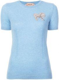 N  186 21 Embellished Short-sleeve Sweater - Farfetch at Farfetch