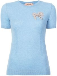 N  21 Embellished short-sleeve Sweater - Farfetch at Farfetch