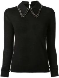 N  21 embellished collar jumper embellished collar jumper at Farfetch
