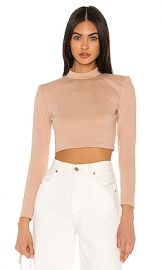 NBD Jackie Crop Top in Taupe from Revolve com at Revolve