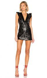 NBD Roslyn Leather Mini Dress in Black from Revolve com at Revolve