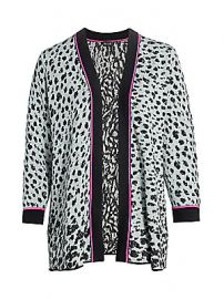 NIC   ZOE  Plus Size - Leopard Knit Multitasker Cardigan at Saks Fifth Avenue