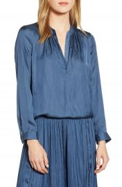 NIC ZOE Destination Split Neck Blouse  Regular  amp  Petite    Nordstrom at Nordstrom