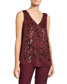NIC ZOE Plus Size In Sequence V-Neck Tank at Neiman Marcus