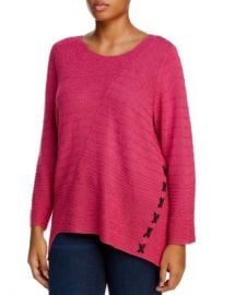 NIC and ZOE Plus NIC ZOE Plus Ribbed Lace-Up Sweater Women -  Plus - Bloomingdale s at Bloomingdales