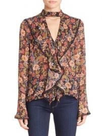 NICHOLAS - Floral Frill Cut-Out Top at Saks Fifth Avenue