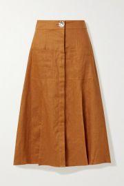 NICHOLAS - Masala linen midi skirt at Net A Porter