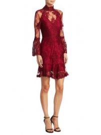 NICHOLAS - Octavia Laced Mini Dress at Saks Fifth Avenue