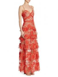 NICHOLAS - Rosie Tiered Embroidered Lace Gown at Saks Fifth Avenue