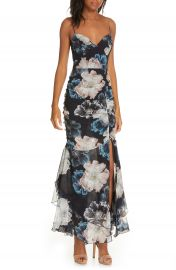 NICHOLAS Floral Ruched Silk Dress   Nordstrom at Nordstrom