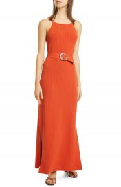 NICHOLAS Lily Ribbed Belted Maxi Dress   Nordstrom at Nordstrom