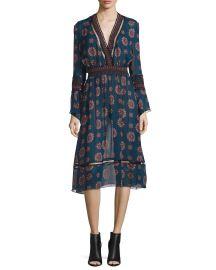 NICHOLAS Marrakech Printed Chiffon Midi Dress at Neiman Marcus