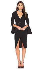 NICHOLAS Textured Crepe Blazer Dress in Black from Revolve com at Revolve