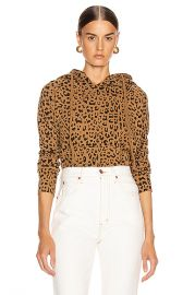 NILI LOTAN Janie Hoodie in Whiskey Leopard Print   FWRD at Forward