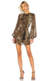 NILI LOTAN Rebeca Dress in Brown Leopard Print from Revolve com at Revolve