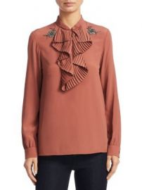 NO  21 - Ruffled Trim Blouse at Saks Fifth Avenue