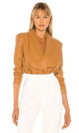 NONchalant Caraline Bodysuit in Caramel from Revolve com at Revolve