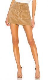 NSF Penelope Patch Pocket Mini Skirt in Pigment Copper from Revolve com at Revolve