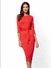 NY Deals Tie Front Sheath Dress by New York & Company at NY&C