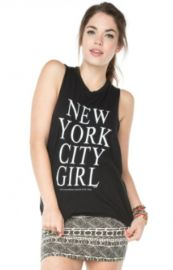 NYC Girl Tank at Brandy Melville