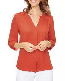 NYDJ Pintuck-Back Blouse Women - Bloomingdale s at Bloomingdales