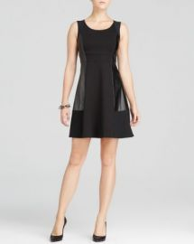 NYDJ Faux Leather Panel Dress at Bloomingdales