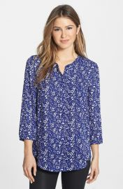 NYDJ Henley Blouse in bloomfield at Nordstrom