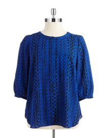 NYDJ Patterned Blouse at Lord & Taylor
