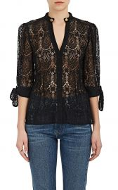 Nadege Corded Lace Blouse by Maison Mayle at Barneys