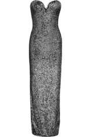 Naeem Khan - Strapless sequin-embellished tulle gown at Net A Porter
