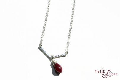 NairandBjorn Ruby Drop Necklace at Etsy