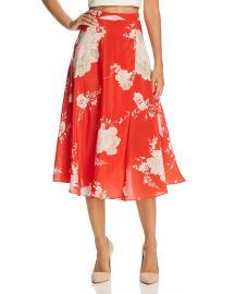 Nanette Faux-Wrap Floral Silk Midi Skirt at Bloomingdales