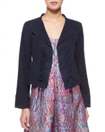 Nanette Lepore Angle Falls Structured Lace-Up Jacket at Neiman Marcus