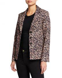 Nanette Lepore Bon Voyage Leopard-Print Blazer at Neiman Marcus