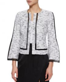 Nanette Lepore Graphic Tweed Jacket at Neiman Marcus
