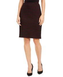 Nanette Lepore Grid-Print Pencil Skirt   Reviews - Skirts - Women - Macy s at Macys