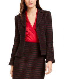 Nanette Lepore Striped Tailored Blazer   Reviews - Jackets   Blazers - Women - Macy s at Macys