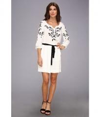Nanette Lepore Tough Love Dress White at Zappos