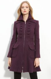 Nanette Lepore and39Provocativeand39 Tweed Coat in plum at Nordstrom