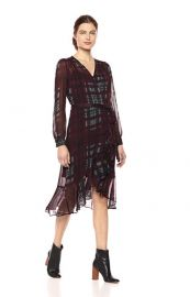 Nanette Nanette Lepore Women\'s Ls Plaid Wrap Dress at Amazon