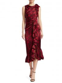 Nannon Asymmetric Silk Floral Print Sheath Dress at Saks Fifth Avenue